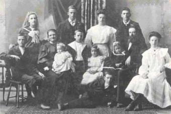 An old black and white family photo
