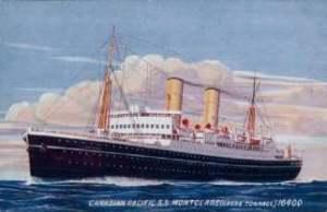 an old passenger ship at sea